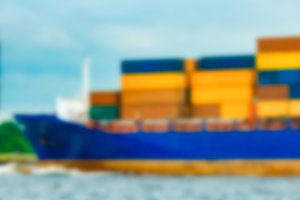 Cargo ship - blurred image