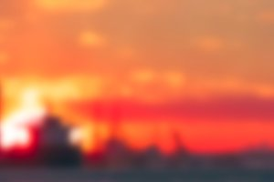 Gold sunset - blurred image