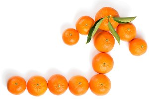 Arrow made by tangerines.