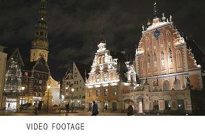 Old Riga at night.