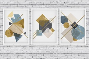 3 GRUNGE abstract posters!