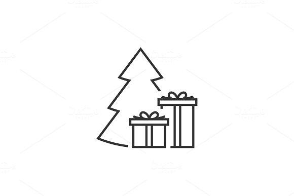 Giftbox At The Christmas Tree