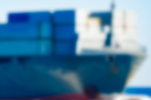 Cargo ship - blurred image