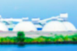 Cargo terminal - blurred image