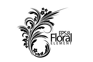 Floral element for design