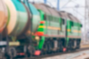 Cargo train - blurred image