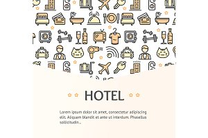 Hotel Service Banner. Vector