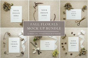 Fall Florals Mockup Bundle + Bonus