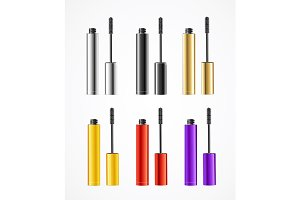 Realistic Color Mascara Brush Set