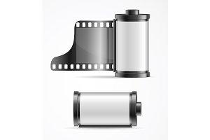 Realistic Camera Film Roll Cartrige