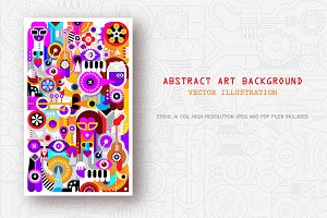 Abstract art vector background