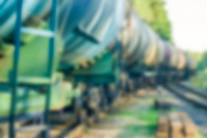 Tank wagons - blurred image