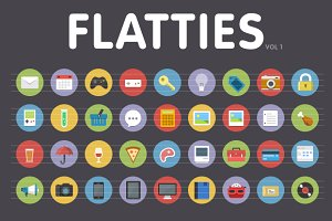 Flatties Vol 1 - flat style icon set