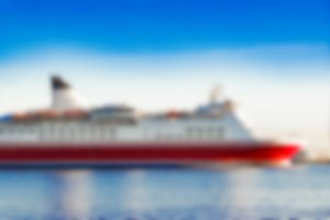 Passenger ship - blurred image