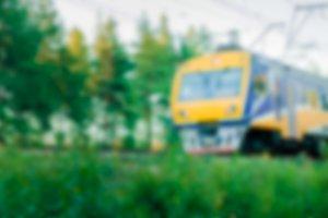 Passenger train - blurred image