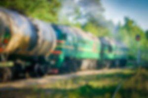 Cargo train - blurred image