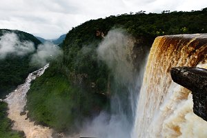Kaieteur waterfall, one of the tallest falls in the world in potaro river Guyana