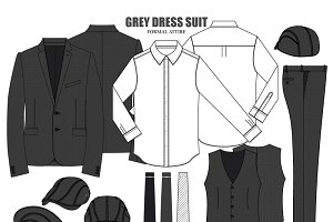 Men Dress Clothing Fashion Set