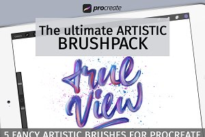 Artistic brush pack for Procreate