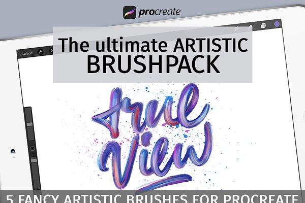 Artistic brush pack for Procreate