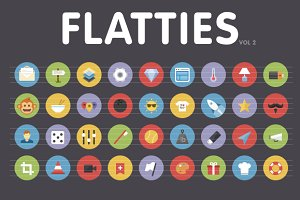 Flatties Vol 2 - flat style icon set