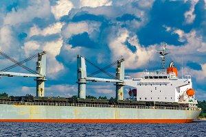 Grey bulker ship
