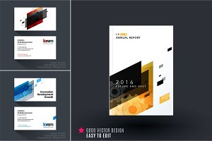 Mega set of design of business vector templates
