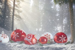 Christmas magic winter Scene
