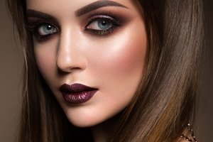 Beauty portrait of model with natural make-up