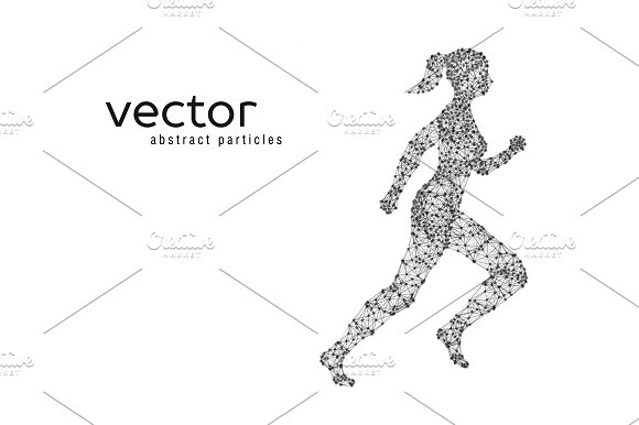 Vector illustration of running woman