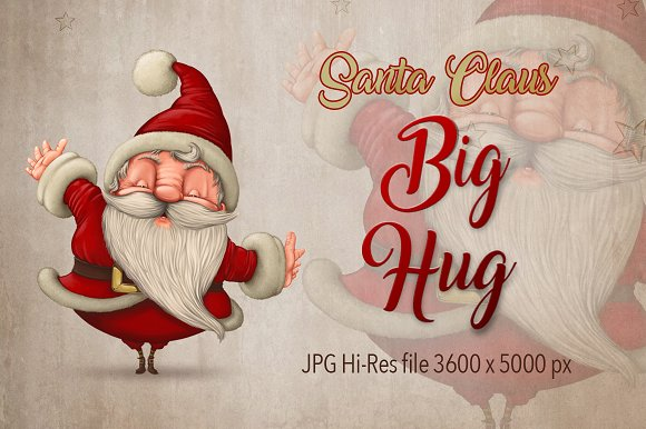Santa Claus Happy Hug