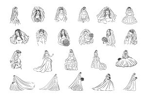 22 Bride illustrations