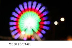 Park attraction in blur.