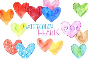 Watercolor hearts. Part 2