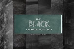 Dirty Black Chalkboard Backgrounds