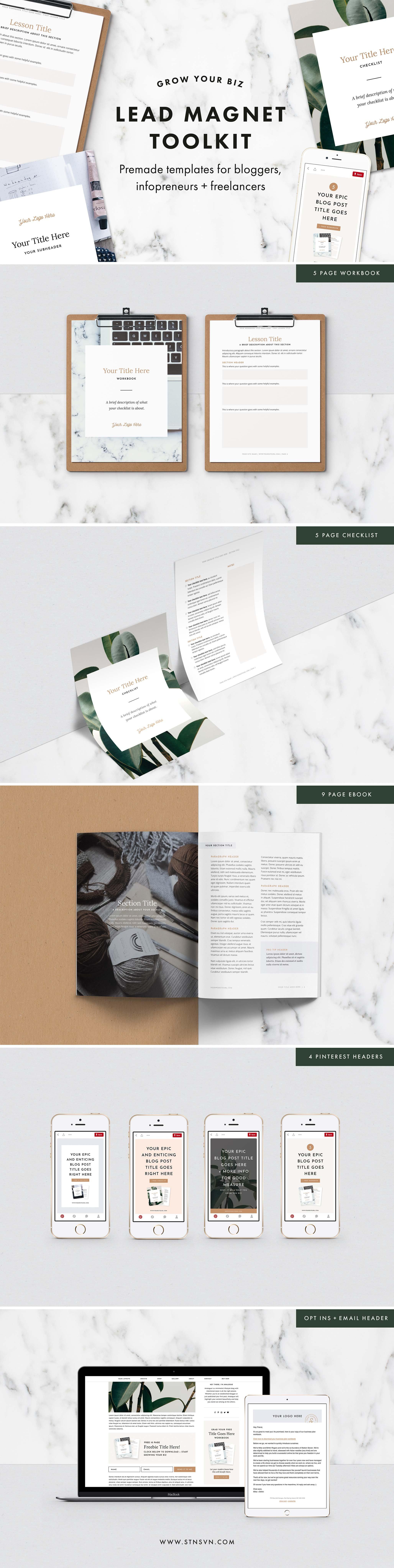 lead magnet toolkit bundle email templates creative market. Black Bedroom Furniture Sets. Home Design Ideas