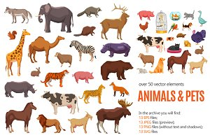 Wild Animals and Pets Set