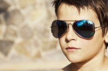 Portrait of boy with sunglasses