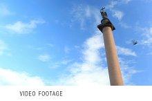 Alexander Column in St. Petersburg.