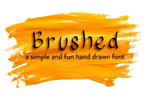 Brushed Hand Drawn Font