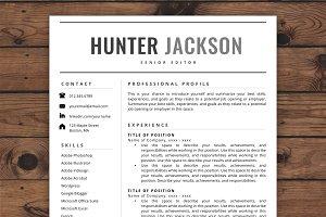 Resume Template/CV - Hunter