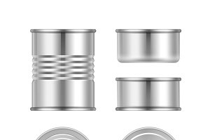 Vector set of canned goods