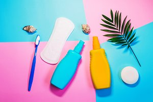sunscreen spray. body hygiene. body care and protection. summer and vacation. accessories