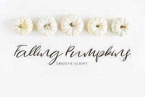 Falling Pumpkins Script Font