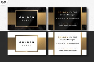 GOLD BLACK & WHITE Business Card