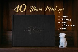 40 Photography album mockup