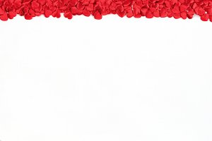 Red Heart Border on White