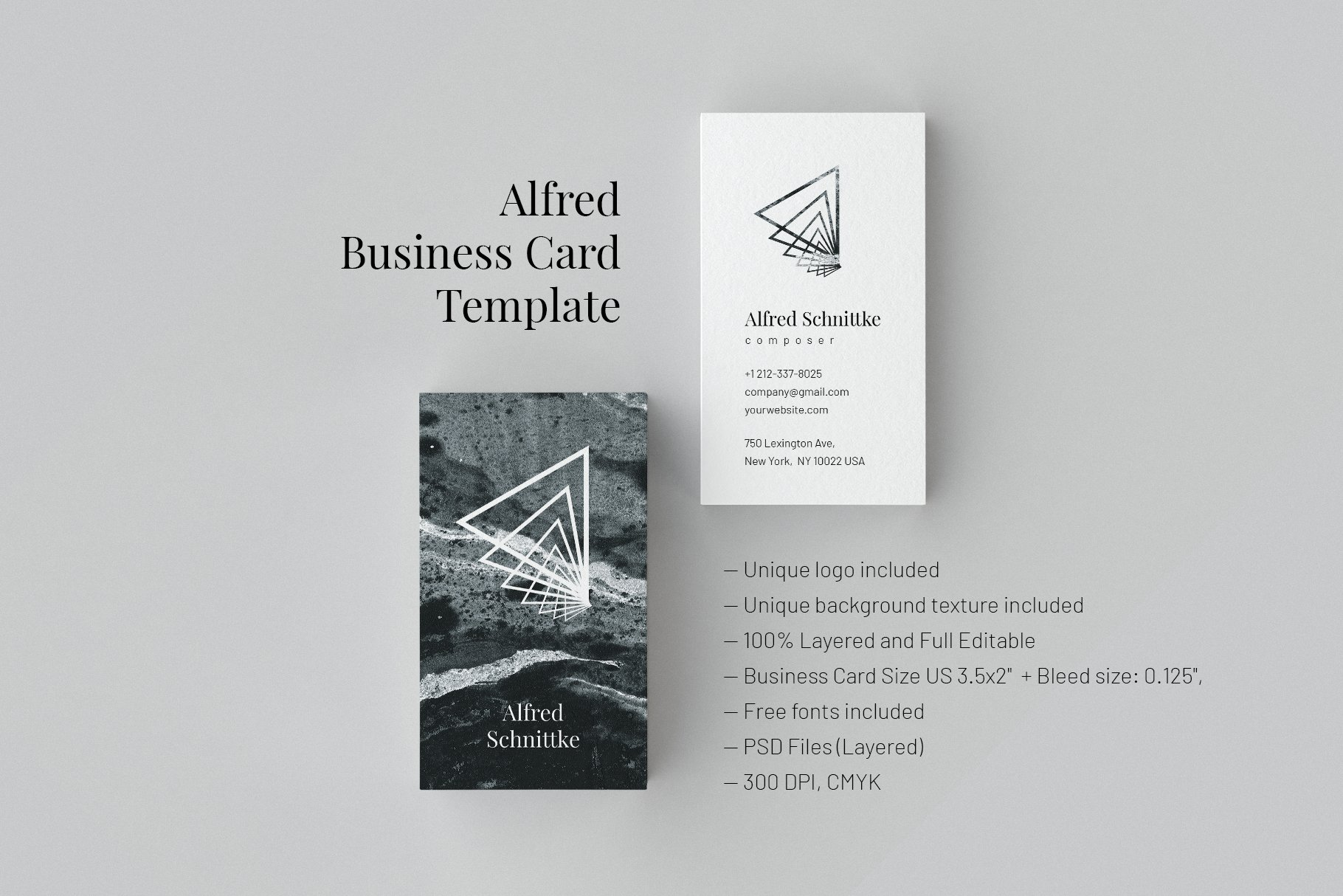 Alfred. Business Card Template ~ Business Card Templates ~ Creative ...