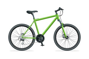 Mountain Bike or Urban Bike isolated on white background vector illustration