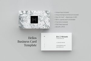 Helios. Business Card Template